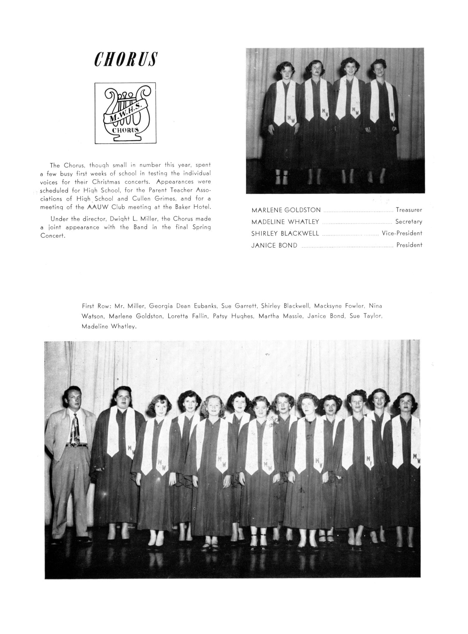 The Burro, Yearbook of Mineral Wells High School, 1953                                                                                                      95