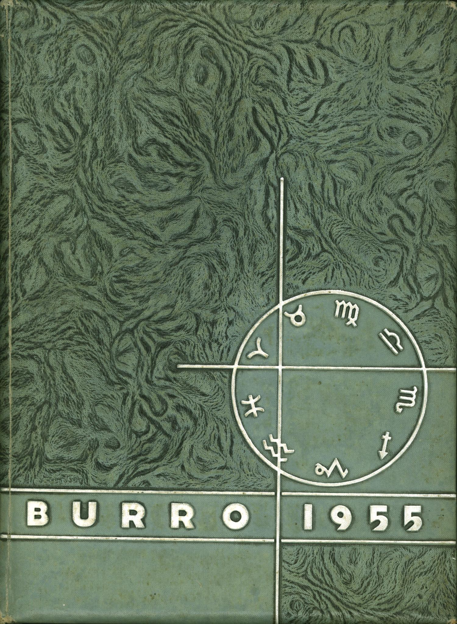 The Burro, Yearbook of Mineral Wells High School, 1955                                                                                                      Front Cover