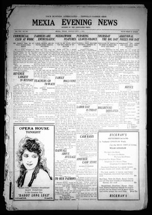 Mexia Evening News (Mexia, Tex.), Vol. 21, No. 183, Ed. 1 Monday, September 1, 1919