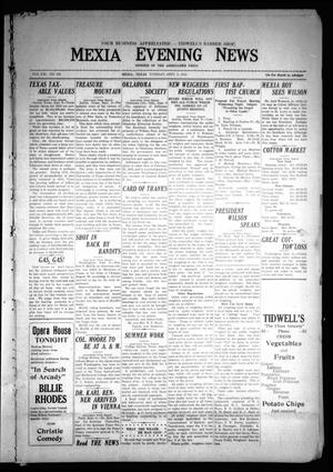 Primary view of object titled 'Mexia Evening News (Mexia, Tex.), Vol. 21, No. 190, Ed. 1 Tuesday, September 9, 1919'.