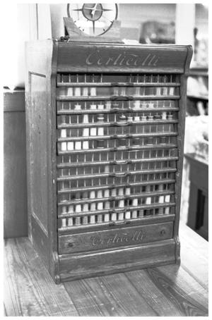 Primary view of object titled '[Poston's Dry Goods, 15 of 15;  Dry Goods case]'.