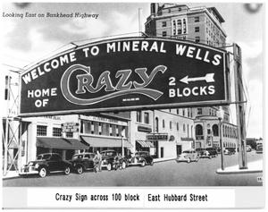 Primary view of object titled 'Crazy Sign Across The 100 Block of  Hubbard Street'.