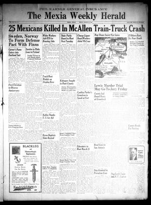 Primary view of object titled 'The Mexia Weekly Herald (Mexia, Tex.), Vol. 42, No. 11, Ed. 1 Friday, March 15, 1940'.