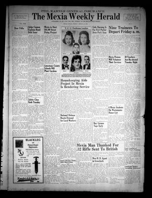 Primary view of object titled 'The Mexia Weekly Herald (Mexia, Tex.), Vol. 43, No. 9, Ed. 1 Friday, March 14, 1941'.