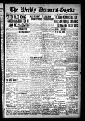 Primary view of object titled 'The Weekly Democrat-Gazette (McKinney, Tex.), Vol. 35, Ed. 1 Thursday, February 21, 1918'.
