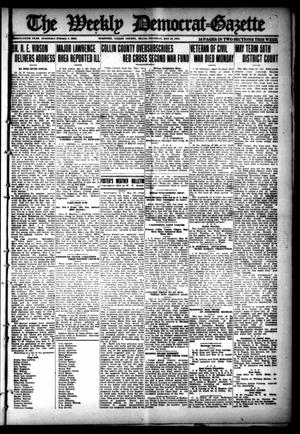 Primary view of object titled 'The Weekly Democrat-Gazette (McKinney, Tex.), Vol. 35, Ed. 1 Thursday, May 23, 1918'.
