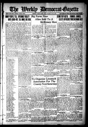 Primary view of object titled 'The Weekly Democrat-Gazette (McKinney, Tex.), Vol. 35, Ed. 1 Thursday, May 30, 1918'.