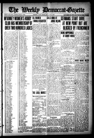 Primary view of object titled 'The Weekly Democrat-Gazette (McKinney, Tex.), Vol. 35, Ed. 1 Thursday, June 20, 1918'.