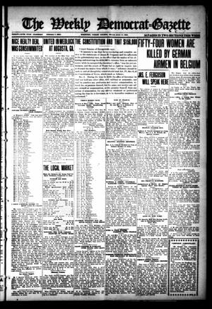 Primary view of object titled 'The Weekly Democrat-Gazette (McKinney, Tex.), Vol. 35, Ed. 1 Thursday, July 11, 1918'.