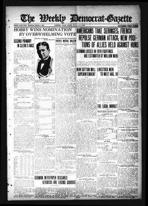 Primary view of object titled 'The Weekly Democrat-Gazette (McKinney, Tex.), Vol. 35, Ed. 1 Thursday, August 1, 1918'.