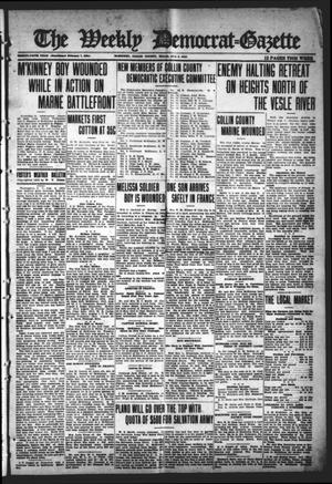 Primary view of object titled 'The Weekly Democrat-Gazette (McKinney, Tex.), Vol. 35, Ed. 1 Thursday, August 8, 1918'.