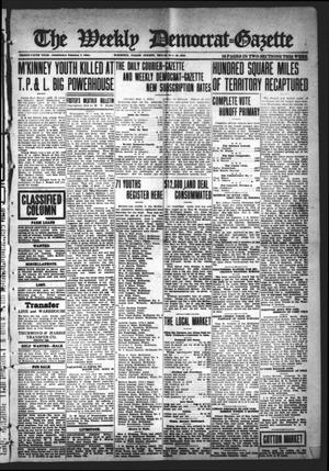Primary view of object titled 'The Weekly Democrat-Gazette (McKinney, Tex.), Vol. 35, Ed. 1 Thursday, August 29, 1918'.