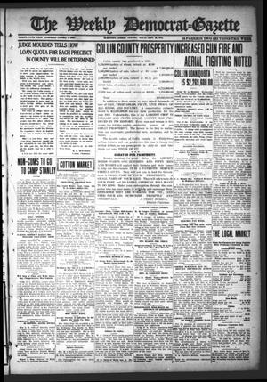 Primary view of object titled 'The Weekly Democrat-Gazette (McKinney, Tex.), Vol. 35, Ed. 1 Thursday, September 26, 1918'.