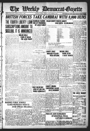 Primary view of object titled 'The Weekly Democrat-Gazette (McKinney, Tex.), Vol. 35, Ed. 1 Thursday, October 10, 1918'.