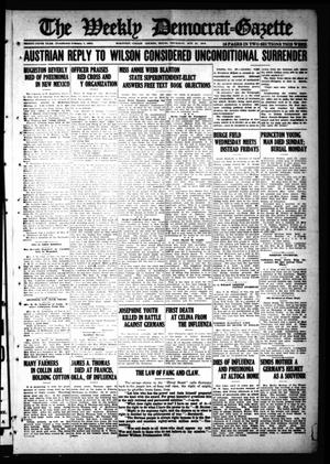 Primary view of object titled 'The Weekly Democrat-Gazette (McKinney, Tex.), Vol. 35, Ed. 1 Thursday, October 31, 1918'.