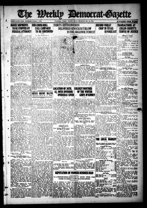 Primary view of object titled 'The Weekly Democrat-Gazette (McKinney, Tex.), Vol. 35, Ed. 1 Thursday, December 26, 1918'.