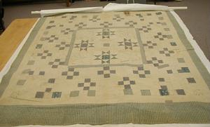 Primary view of object titled 'McCreary Quilt dated 1824.'.