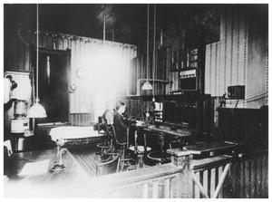Primary view of object titled 'Gertrude Driskill and Edith Alexander at a Switchboard'.