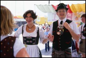Primary view of object titled '[Two German Folk Dancers]'.