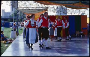 Primary view of object titled '[Norwegian Leikarringen Dancers]'.