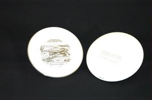 Primary view of object titled 'Commemorative plate'.