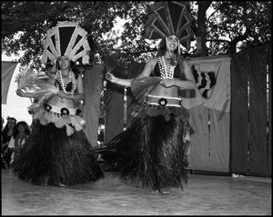 Primary view of object titled '[Polynesian Dancers Performing]'.