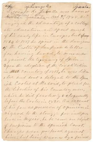 Life of Lorenzo de Zavala by Mary Jane Harris Briscoe