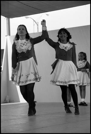 Primary view of object titled '[Two Women Performing Irish Dance]'.
