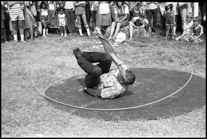 Primary view of object titled '[Bruce Montague Trick Roping]'.