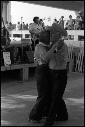 Primary view of object titled '[Couple Dancing to Wence Shimek Polka Band]'.