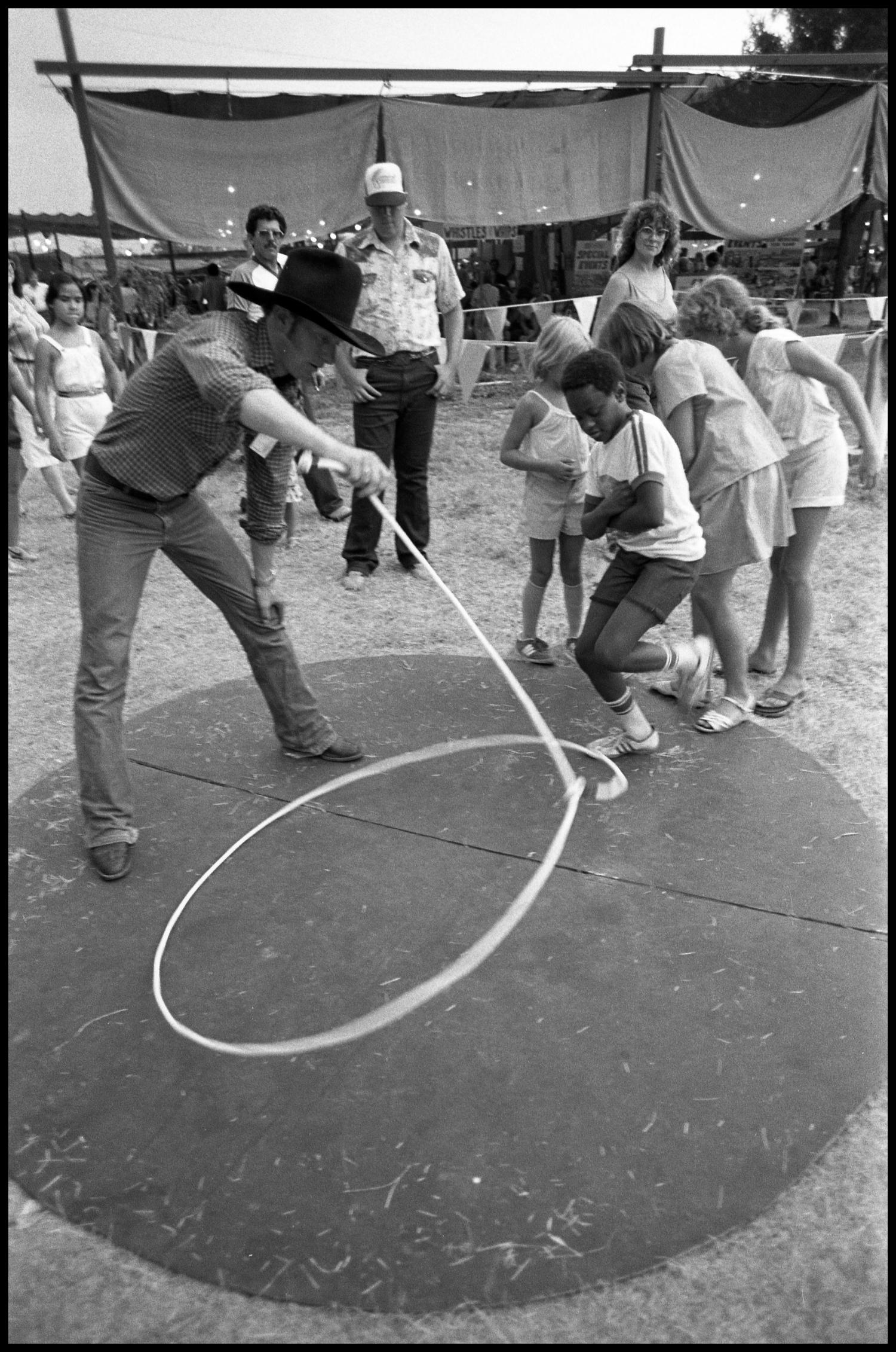 Kevin Fitzpatrick Demonstrating Trick Roping The Portal To Texas History