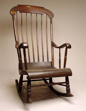 Primary view of object titled 'Rocking chair of Lorenzo de Zavala'.