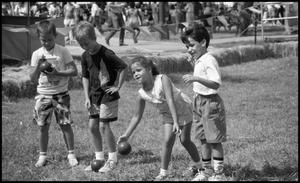 Primary view of object titled '[Children Playing Bocce]'.