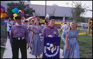 Primary view of object titled '[Texas Klompendancers of Houston at the Opening Parade]'.