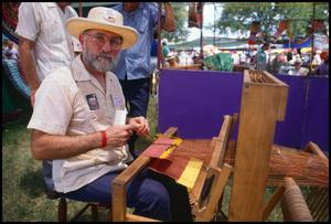Primary view of object titled '[Weaving Demonstration by Glenn Koch]'.