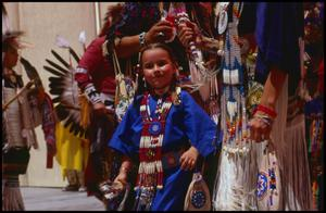 Primary view of object titled '[Young Texas Indian Heritage Dancer]'.
