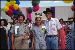 [Jo Ann Andera with Claudia Ball and O. T. Baker at Opening Ceremony]