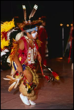 Primary view of object titled '[Alabama-Coushatta Dancer]'.