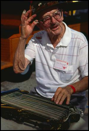 Primary view of object titled '[Zither Player Ham Margold]'.