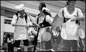 Primary view of object titled '[Italian Dancers at the Texas Folklife Festival]'.