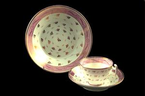 Primary view of object titled 'Lusterware bowl'.
