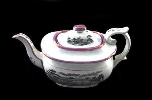 Primary view of object titled 'Transferprinted teapot'.
