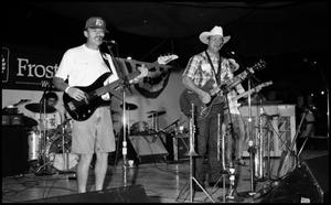 Primary view of object titled '[Bill Smallwood and the Jazz Cowboys Onstage]'.