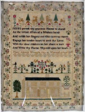 Primary view of Embroidered sampler