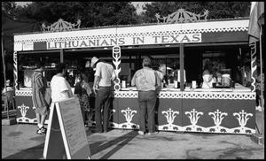 Primary view of object titled '[Lithuanians in Texas Booth]'.