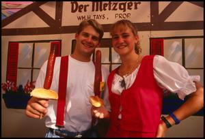 Primary view of object titled '[Wurstfest Association Booth]'.