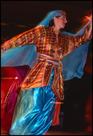 Primary view of object titled '[Houston International Folk Dancer in Turkish Costume]'.