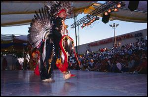 Primary view of object titled '[Texas Indian Heritage Society Dancer]'.