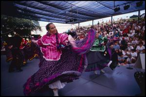 Primary view of object titled '[Ballet Folklorico de Festival, the Mexican Folk Dancers]'.