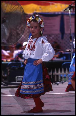 Primary view of object titled '[Zorya Ukrainian Dancers of Dallas Youth Group]'.
